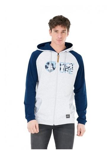 Picture Organic  Moorea Full Zip Erkek Sweatshirt Gri